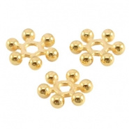 Metalen kraal goudkleurig 5,6 mm spacer / rondel slider DQ