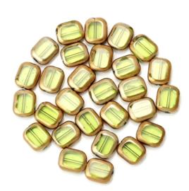 Glaskraal groen donker goud