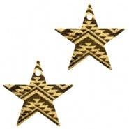 Bedel ster aztec zwart goudkleurig