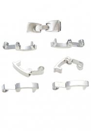 Klemmetje voor hanger zilver 10x4 mm