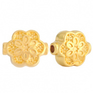 Metalen kraal goud bloem DQ