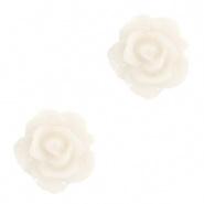 Bloem kraal vanilla ice roosje 10 mm