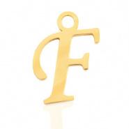 Bedel letter F RVS goudkleurig