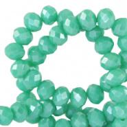 Facetkraal groen turquoise emerald 3x2 mm 290 stuks