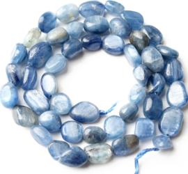 Natuursteen nugget kralen Blue kyanite 10 stuks 4-8 mm
