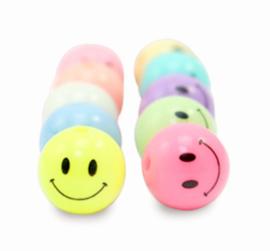 Acryl kraal smiley multi colour