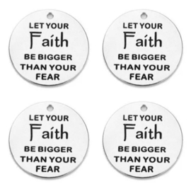 Bedel let your FAITH be bigger than your fear RVS