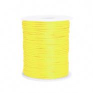 Satijn draad geel  1,5 mm
