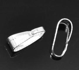 Klemmetje voor hanger zilver licht 5 stuks