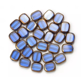Glaskraal blauw royal goud