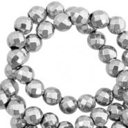 Kraal grijs licht facet 4 mm hematite