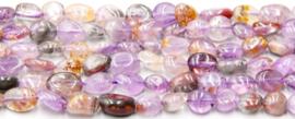 Natuursteen nugget kralen paars Purple ghost 10 stuks 4-8 mm
