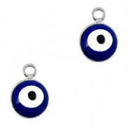 Bedel evil eye blauw zilver 6 mm