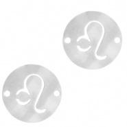 Bedel / tussenstuk sterrenbeeld Leeuw zilver RVS