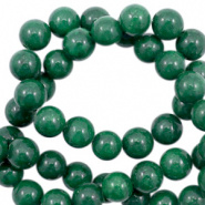 Kraal groen pine 6 mm half edelsteen jade