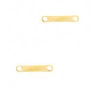 Bedel bar goud RVS connector