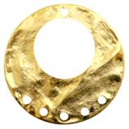 Bedel ring met 5 ogen goudkleurig TQ