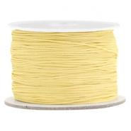 Macramé draad geel old linen 0,5 mm