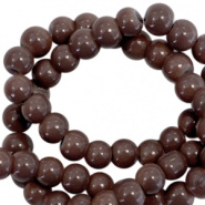 Glasparel bruin chocolate donker 3 mm opaak