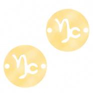 Bedel / tussenstuk sterrenbeeld Steenbok goudkleurig RVS