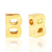Initiaal letterkraal RVS B goud