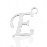 Bedel letter E RVS zilver