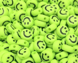 Letterkraal smiley groen 7 mm