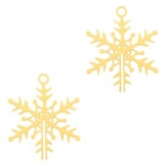 Bedel sneeuwvlokje goudkleurig