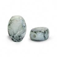Glaskraal bruin sierra silverline ovaal