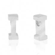 Initiaal letterkraal RVS I zilver