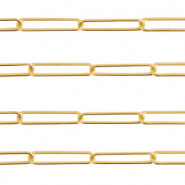 Ketting goud 20x5 mm RVS