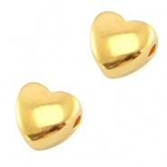 Metalen kraal goudkleurig hart DQ