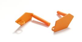 Oorstekers driehoek oranje