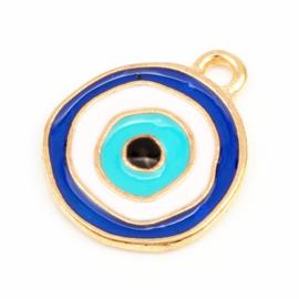 Bedel evil eye blauw goud
