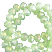 Facetkraal groen licht 6x4 mm 100 stuks