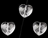 Facetkraal kristal hart
