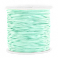 Macramé draad groen turquoise licht 0,8 mm