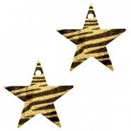 Bedel ster zebra zwart goudkleurig