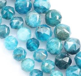Natuursteen kraal blauw Apatite 3 mm facet