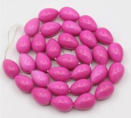 Glaskraal roze fuchsia druppel