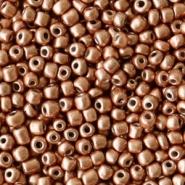 Rocailles bruin koper metallic 2 mm 20 gram