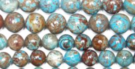 Natuursteen kraal blauw crazy lace Agate 4 mm