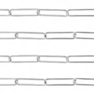 Ketting zilver 21x6 mm RVS
