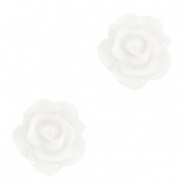 Bloem kraal wit bright roosje 10 mm