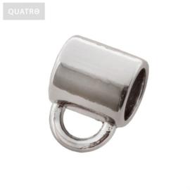 Kraal met oogje zilver Ø 3 mm