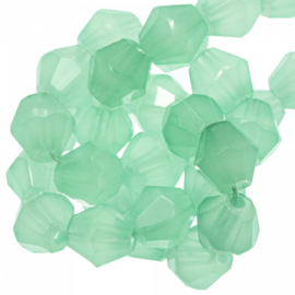 Facetkraal groen mint 6 mm 50 stuks bicone