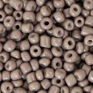Rocailles grijs fossil 3 mm 20 gram