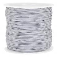 Macramé draad grijs zilver licht 0,8 mm