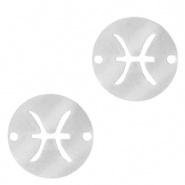 Bedel / tussenstuk sterrenbeeld Vissen zilver RVS