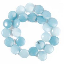 Natuursteen kraal blauw Chalcedony 6x16 mm